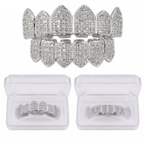 Image of Silverplated Royal Diamanten Grillz Set