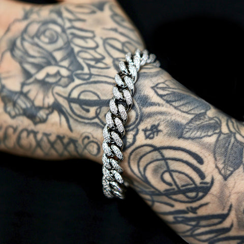Image of Silverplated Iced Out Miami Cuban Armband
