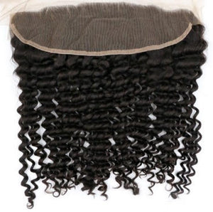 "Brazilian Deep Wave Lace Frontal 14"" - JM Stock"