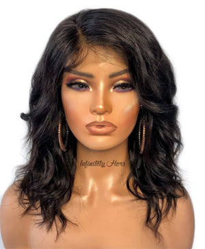 "Swiss Lace Closure Wig - 10"" Body Wave (JM Stock)"