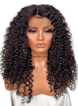 "Swiss Lace Frontal Wig - 22"" Curly (JM Stock)"
