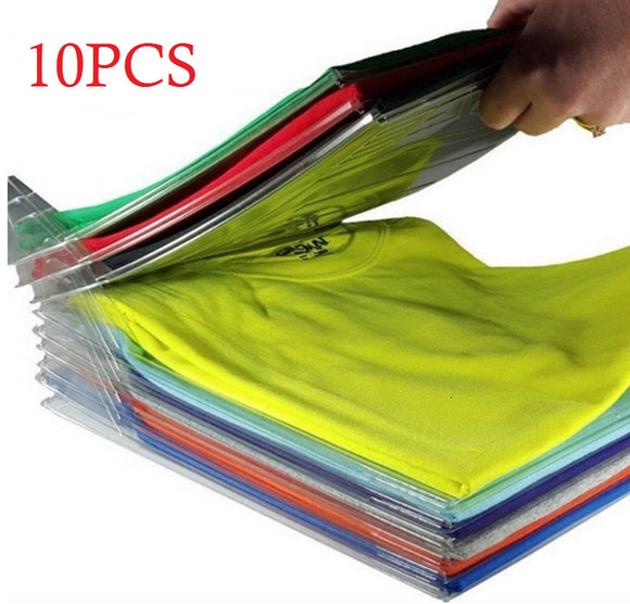 Closet Organizer Space-Saver,T-Shirt Organizer For Drawer,Wardrobe Storage Folding Board,Anti-Wrinkle| Regular Size