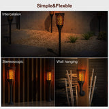 Solar Flame Light, Solar Outdoor Landscaping Light- Flickering Flame Solar Garden Decoration Light, Dusk to Dawn Lighting Lamp for Lawn,Garden Patio Pathway