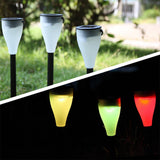 Garden Wall Lights Outdoor ABS Moisture-Proof Multi Functional Color Changing Lantern Solar Powered Camping Lawn