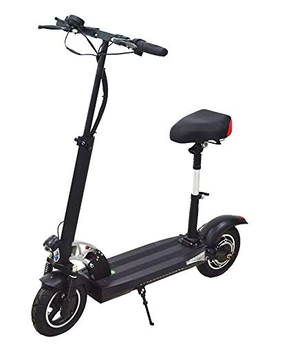 Blue Pigeon HITWAY Electric Scooter for Adult, 10 inch Solid Tire with Dual Suspension, 800W Motor 3 Speed Modes upto 50km Endurance, Max Speed upto 45-50km/h (Seat Included)