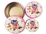 Round Tin Boxes Set Of 3