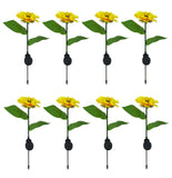 Sunflower Shaped LED Solar Powered Lawn Lamps Waterproof Outdoor Garden Yard Path Lights for Lighting Decoration