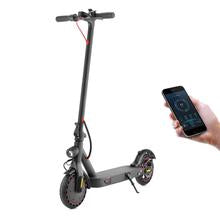 Blue Pigeon - E9D 8.5 inch Puncture Proof Tire Scooter 25km/h Intelligent Electric Folding Scooter with Lights - Black