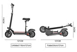E5 Off Road Folding Electric Scooter 10 inch Tire Fastest 40 km/h 13Ah 600W Rang 40km (Free Seat and Bag)