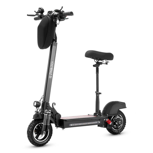 E5 Off Road Folding Electric Scooter 10 inch Tire Fastest 40 km/h 13Ah 600W Rang 40km with Seat and