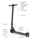 S3 Portable Folding Electric Scooter 250W Motor 5.8Ah Battery 6.5 Inch Tire 20km/h