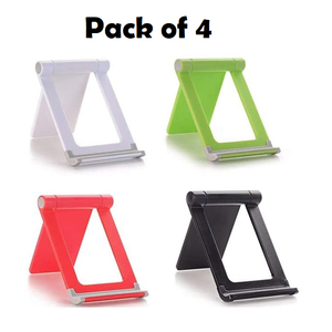 4 Pack Universal Mobile Phone Holder Stand Foldable Holder for Phone for iPhone Desk Tablet Stand Cell Phone Holder-Multi-Color