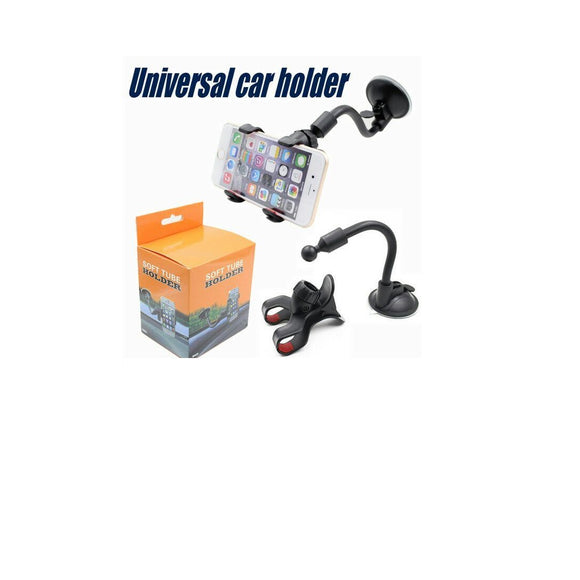 Long Arm Universal Car soft tube 360 degree Mount Bracket Holder iPhone7 /SAMSUNG/GPS/PDA
