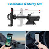 Car Phone Holder, Dashboard Phone Mount ,Suitable for Smartphones on car Headboards,Desk,Glass