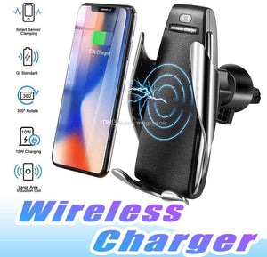 Blue Pigeon S5 Smart Sensor Car Wireless Car  Charger  for iPhone and Samsung