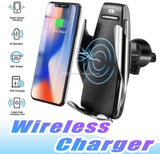 Blue Pigeon S5 Smart Sensor Car Wireless Charger Mount Fast Wireless Charging 360° Air Vent Car Phone Holder Compatible for iPhone and Samsung