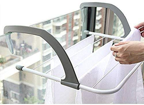 Folding Clothes Radiator Dryer  Over Door Window Mount Hanger  Indoor & Outdoor