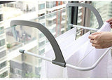 Blue Pigeon Folding Clothes Radiator Drying Airer, Stainless Steel Over Door Window Mount Hanger Dryer Indoor & Outdoor Balcony Hanging Clothes Airer (White)