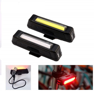 100 Lumen LED Waterproof USB Rechargeable Bicycle  Front/Rear Bike Light Pack
