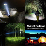 Mini Led Torch 7 W 2000 Lm Cree Led Flashlight Adjustable Focus Zoom Flash Light, Super Bright
