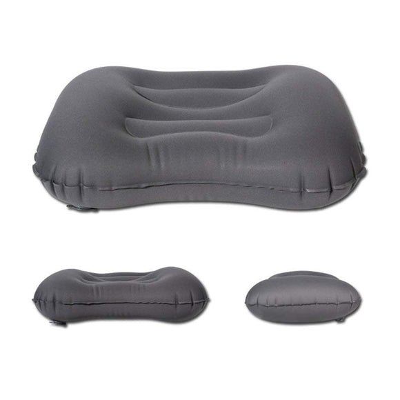 Inflatable Compressible Adjustable Portable Pillow for Airplane, Car, Travel, Office & Camping