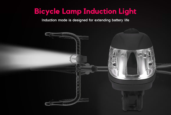 USB LED Bike  Induction flashing headlight   cycling Accessories