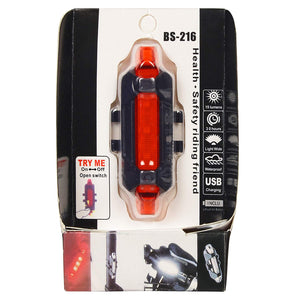 USB Rechargeable Bike Safety Flashing  Tail Light (Helmet and Backpack )