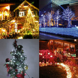 10M,100L LED Solar Waterproof String lights  Black Wire Christmas Decoration