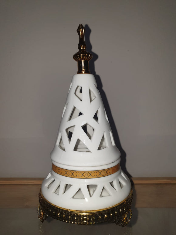 Bakhoor Burner - Incense Burner - Lavish Globe Oud Burner-WHITE