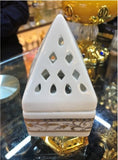Ceramic Bakhoor Incense Burner ~ White