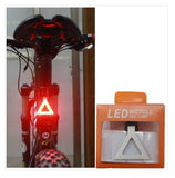 USB Rechargeable Bike Tail Light LED Bicycle Rear Lamp – PLAIN TRAINGLE PATTERN