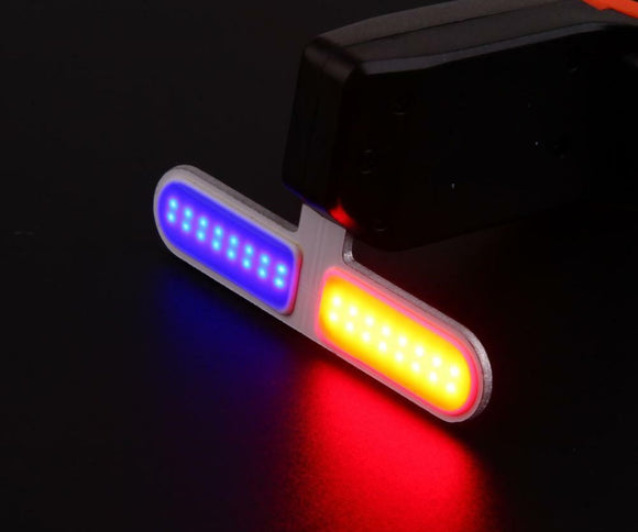 USB Rechargeable Bike Tail Light LED Bicycle Rear Lamp – -RED-BLUE-TWOLIGHT PATTERN