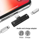 Mini Portable Splitter for Charging and Audio iOS Version for iPhone 11/X/7/ 8 Plus (Multi Colour)