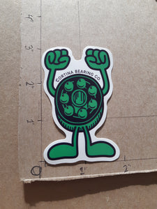 Cortina Bearings Co Mascot Vinyl Sticker