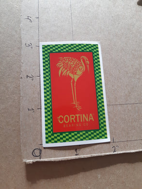 Cortina Bearings Co Crane Vinyl Sticker