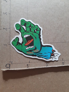 Santa Cruz Skateboards Screaming Hand Vinyl Sticker