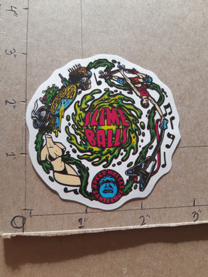 Santa Cruz Skateboards Speed Wheels Slime Ball Vinyl Sticker