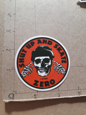 Zero Skateboards Shut Up & Skate Vinyl Sticker
