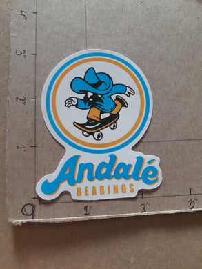 Andale Bearings Vinyl Sticker.