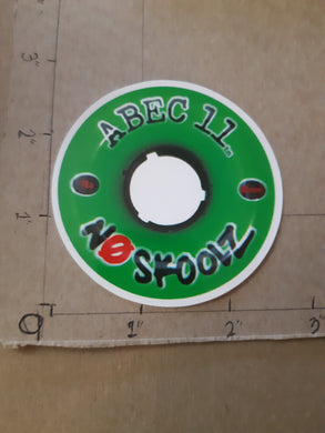 Abec11 No Skoolz 60mm Vinyl Sticker.