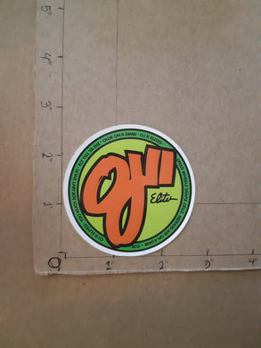 OJ II ELITE Wheels Vinyl Sticker.