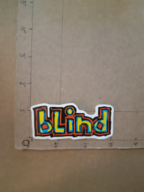 Blind Skateboards Vinyl Sticker.