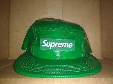 Supreme Laminated Box Weave Camp Cap (Green), FW17.