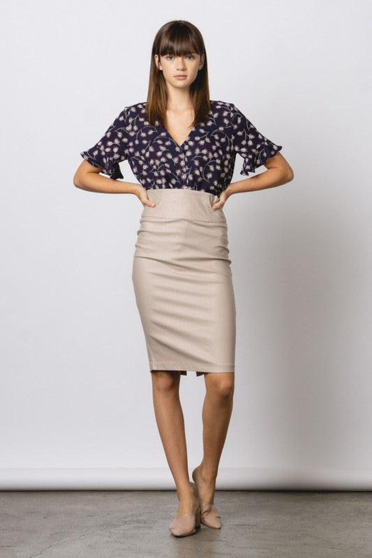 Millennium High Waist Pencil Skirt