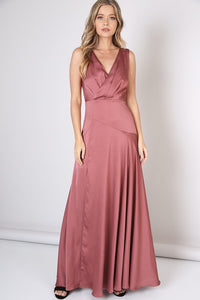 Crossover Sateen A-Line Gown