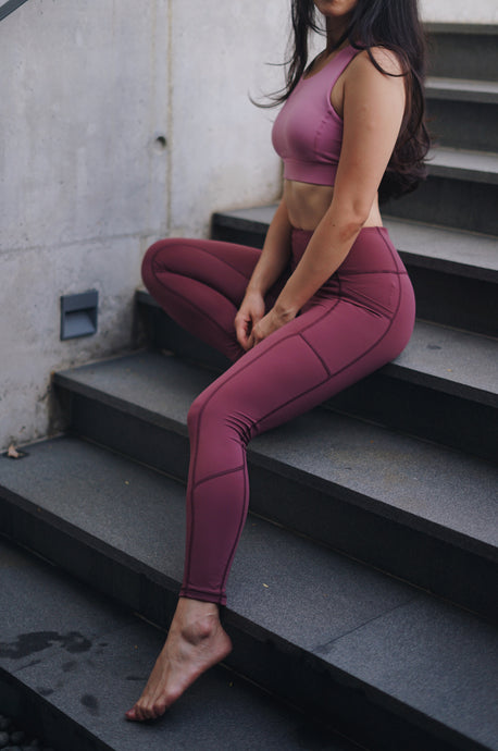 Sheena Vinyasa Tights (Rose)