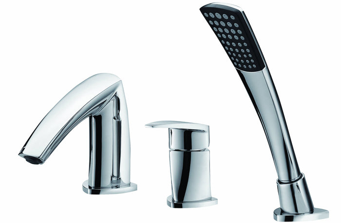 Single-lever 3 hole shower/bath mixer