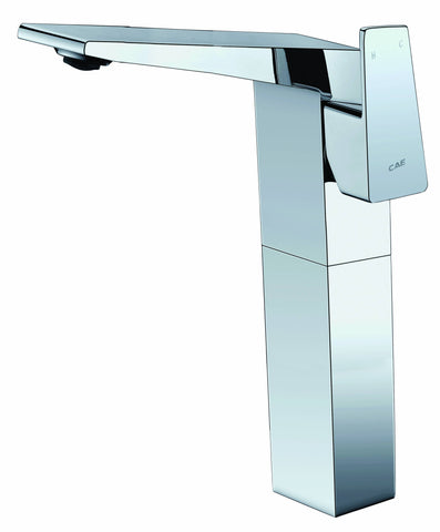 Single-handle tall lavatory faucet