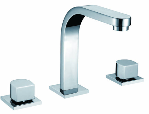Double-handle 3-hole lavatory mixer