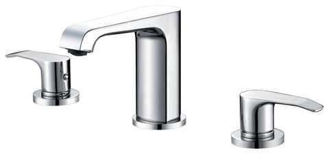 Double-handle 3-hole washbasin mixer